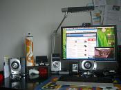 Das kleine Fenster auf dem Monitor ist kein Video, sondern Real TV über die PiP Funktion des Monitors